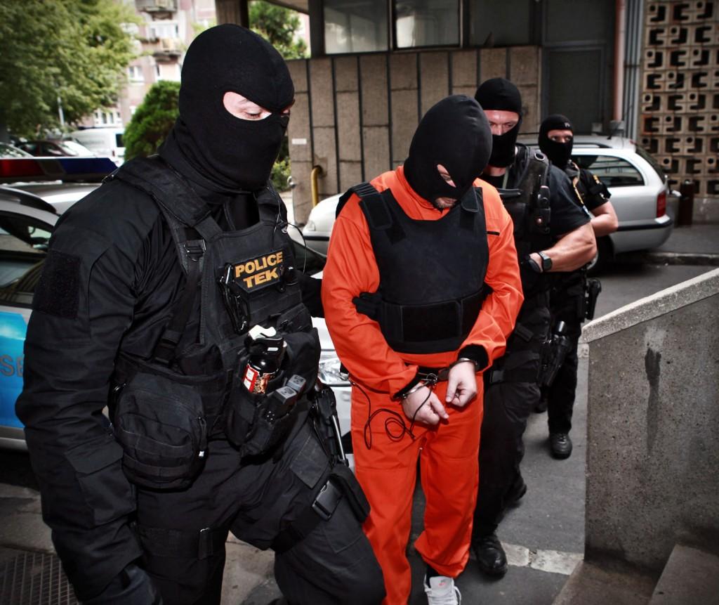Portik Tamást letartóztatása (Fotó: MTI/TEK)