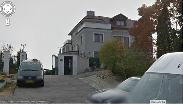 Portikék II. kerületi, Ferenchegyi út 24. szám alatti villája került a Gyárfás család tulajdonába  Fotó: Googlemaps.com