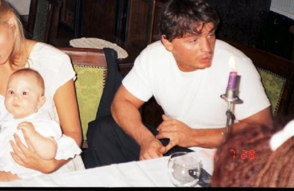 Portik és felesége 1996. július 28-án, a Művészinas Étteremben Fotó: PS