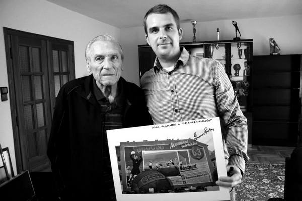 Jankovits Barnabás és Grosics Gyula, köszönet a hatháromért