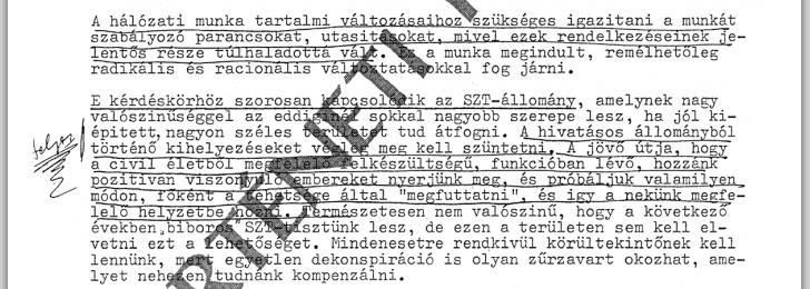 """Nem valószínű, hogy a következő években bíboros SZT-tisztünk lesz, de ezen a területen sem kell elvetni ezt a lehetőséget"""" - részlet Horváth József eligazításából"""