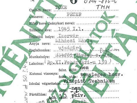 Tőke Péter beszervezési lapja, forrás: Rev.hu