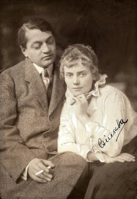 Ady Endre és Boncza Berta (Csinszka) fotó: Székely Aladár 1915