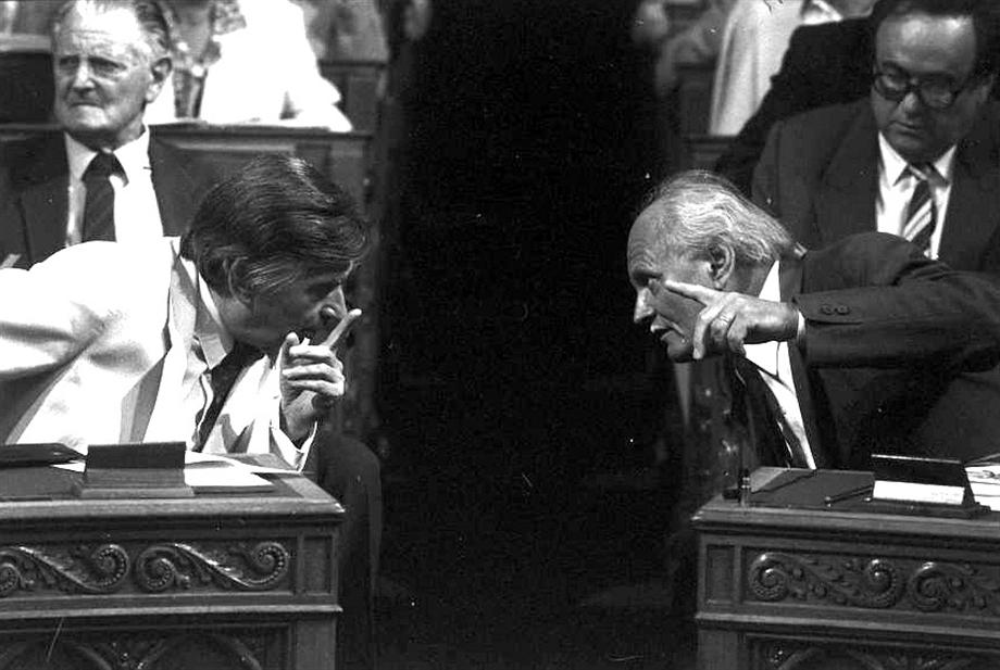 Antall József és Göncz Árpád / Fotó: MTI