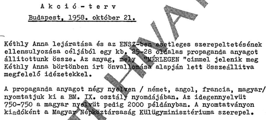 """""""Mérlegen"""" - propaganda négy nyelven"""