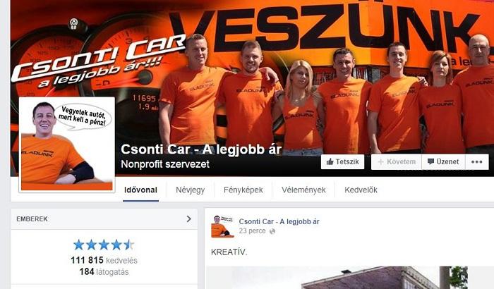 Több mint 111 ezren kedvelik Csonti Facebook oldalát. Már amikor éppen nincs letiltatva....