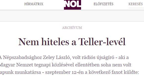 Lukra futott a Népszabadság / Ill.: PS