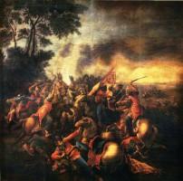 Wenczel Pohl alkotása: A mohácsi csata.