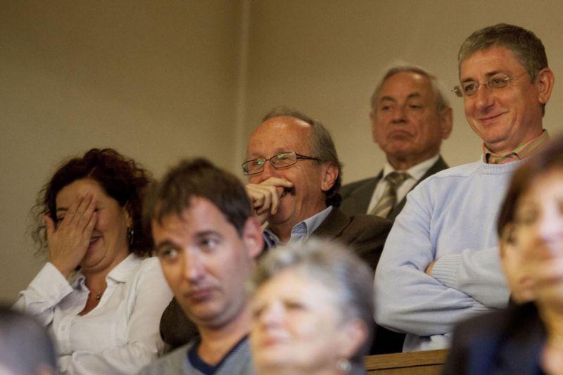 Gyurcsány és párttársai 2013. szeptember 17-én a Fővárosi Törvényszéken. Fotó: gaudinagytamas.hu