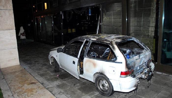 Ezzel a Suzukival hajtottak be a MOM Leroy étterembe Tanyiék, legalábbis a rendőrök szerint Fotó: MTI