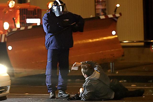 Rendőri igazoltatás 2006 októberében. Fotó: Origo.hu
