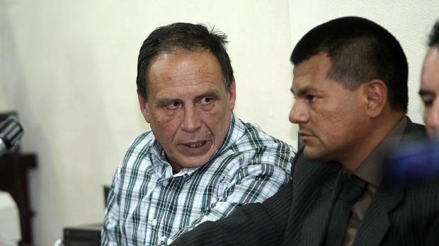 Tóásó bolíviai-horvát kettős állampolgárságú társa, Mario Tadic. EPA/MARTIN ALIPAZ
