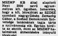 Demszky, a harcos /Forrás: TTE.hu
