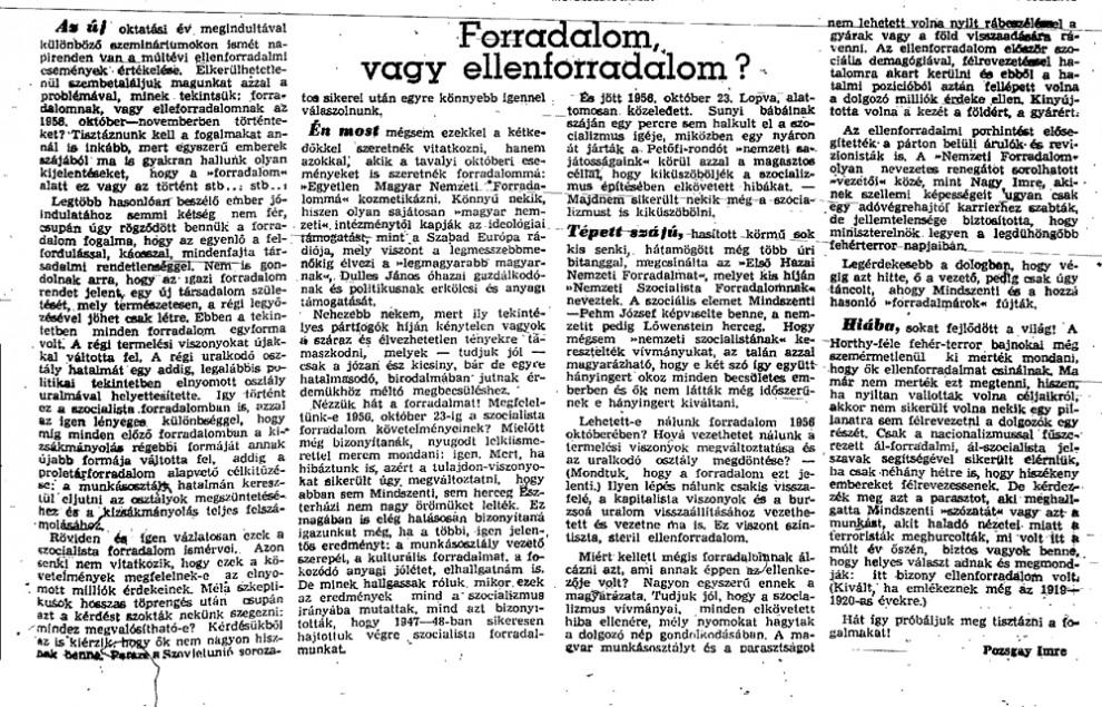 Amikor Pozsgay Imre még máshogy gondolta / Forrás: Mandiner.hu