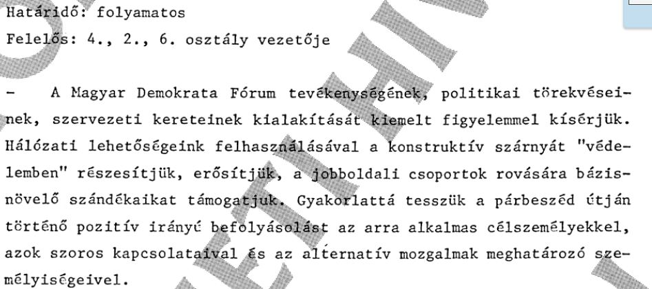Belülről bomlasztották az MDF-et / Forrás: ÁBTL, Hamvas Intézet
