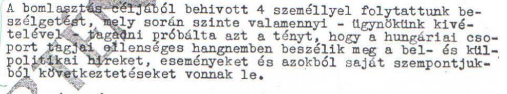Levonták a megfelelő következtetéseket / Az ABTL iratának másolata a Hamvas Intézet archívumából