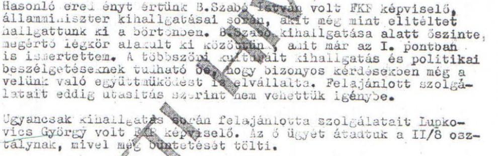 Felajánlották a szolgálataikat / Az ABTL iratának másolata a Hamvas Intézet archívumából