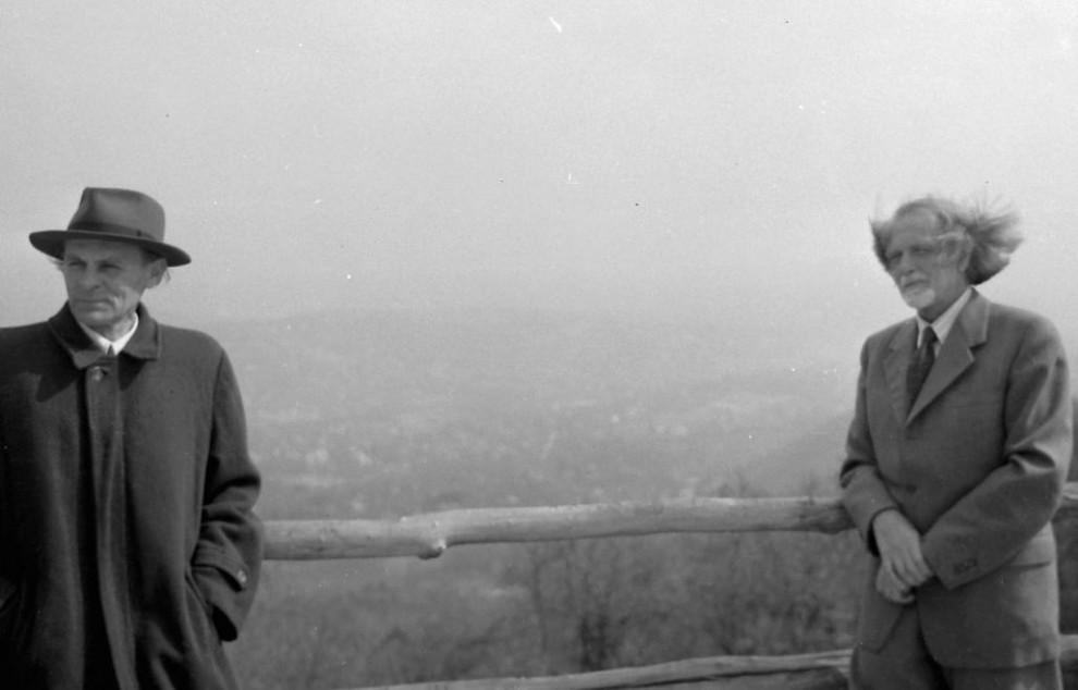 Zsenik egymás mellett: Yehudi Menuhin hegedűművész és Kodály Zoltán /Fotó: Fortepan.hu
