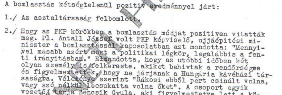 Még meg is köszönték a finom eljárást... /  Az ABTL iratának másolata a Hamvas Intézet archívumából