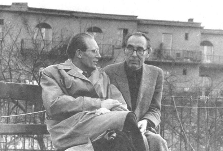 G. Szabó Lőrinc édesapjával / Fotó: Facebook, Podani István Ferenc gyűjteménye