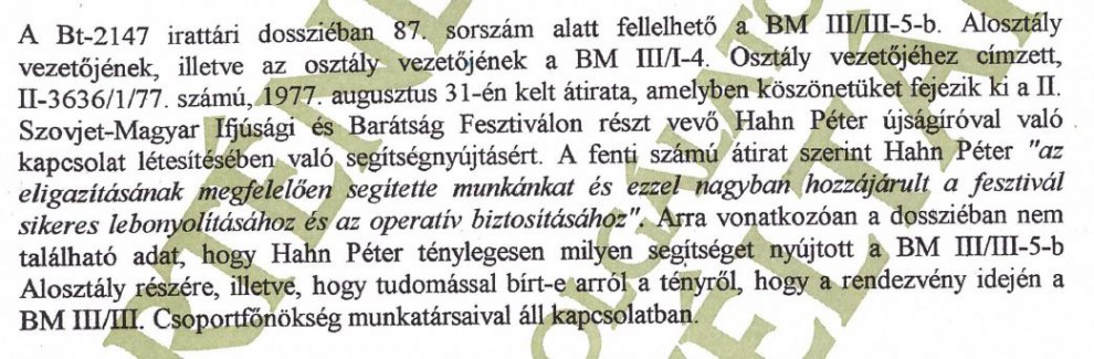 """Finom mentegetés: """"nem lehetett szervezetszerű"""" / Forrás: ÁBTL"""
