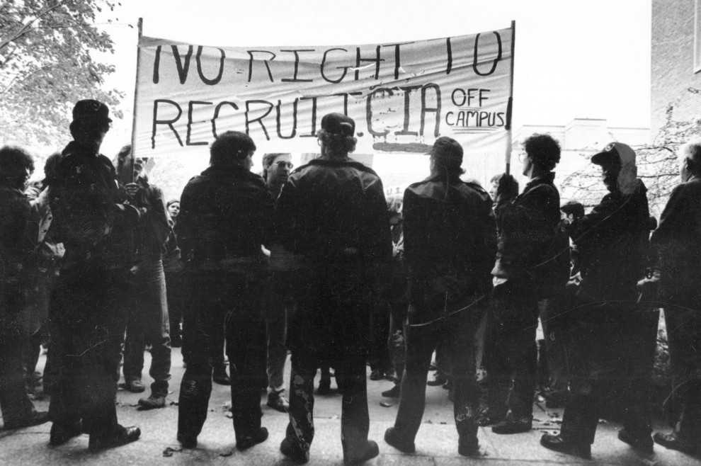 Tüntetés a CIA egyetemi jelenléte ellen / Fotó: Constantinereport.com