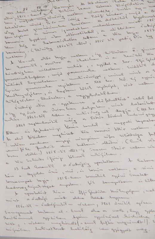 Avar őrnagy kézzel írt önéletrajzának első oldala / Fotó: PS