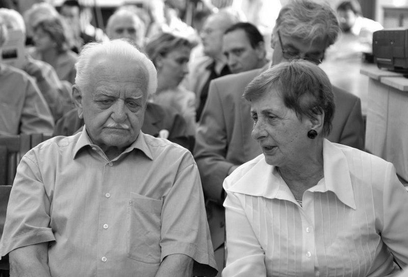 Múltidézés: Regéczy-Nagy László és Maléter Pál özvegye / Fotó: MTI