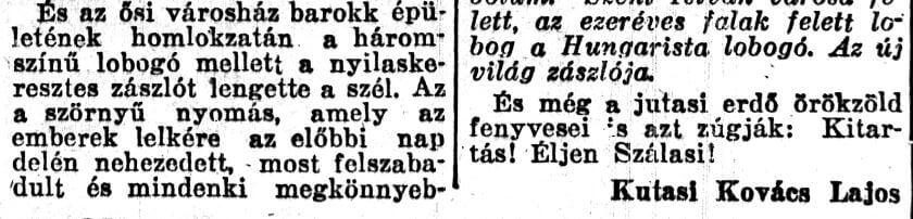 Kutasi Kovács kitartást suttogó fenyői... / Forrás: SZK