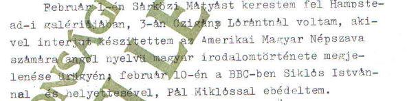 Kutasi Kovács egyik beszámolója / Forrás: ÁBTL