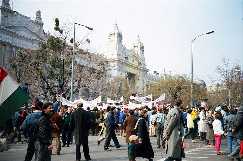 1988. március 15 - az MDF ekkor még bojkottálta a tüntetést / Forrás: Wikipedia.hu