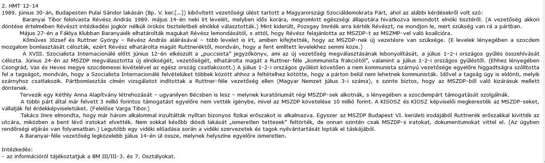 Érdekes jelentés / Forrás: Mek.oszk.hu