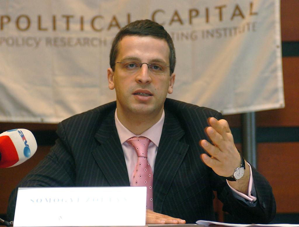 Somogyi Zoltán, a Political Capital egykori vezetője, az MDF egykori kampányfőnöke és a politikafüggetlen NBH fő tanácsadója (kép: Híradó.hu)