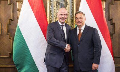 Orbán Viktor a FIFA elnökével / Fotó: MTI