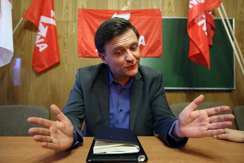 A kémkedésért letartóztatott Mateusz Piskorski/Fotó: Tomasz Gzell /PAP