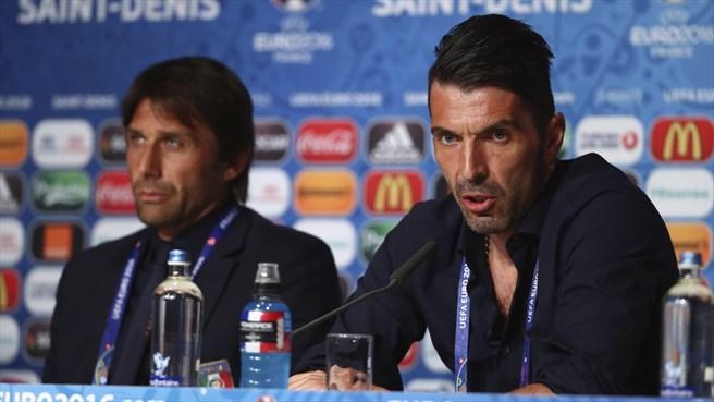 Conte és Buffon / Fotó: UEFA.com