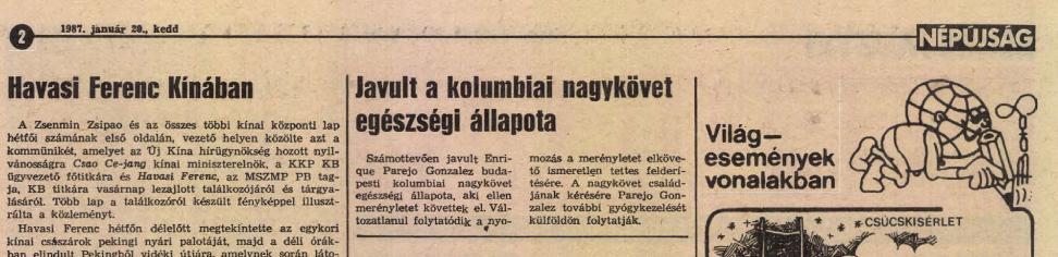 Korabeli cikk a Békés Megyei Népújságból / Forrás: Library.hungaricana.hu