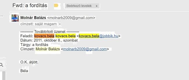 """""""Kágébéla"""" és a tanú Molnár Balázs levelezése"""