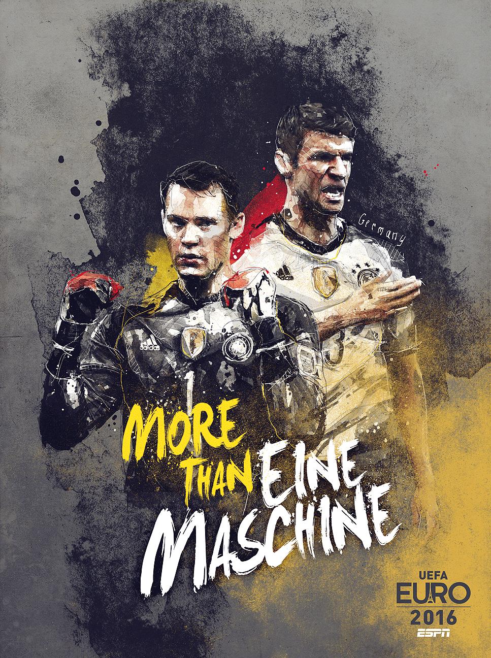 'Echte németek' a német plakáton - Neuer és Müller / Forrás: ESPN