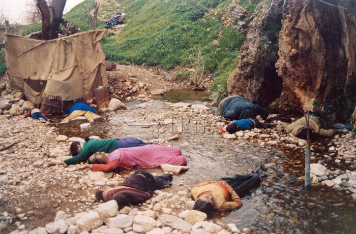 Szaddám Huszein mérges gázt vetett ve kurd civilek ellen Halabja városánál, 1988-ban (kép: theiranproject.com)