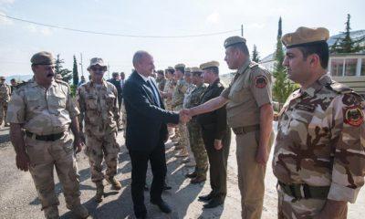 Irak kurdisztáni régiójában szolgálatot teljesítő magyar csapatoknál tett látogatást májusban dr. Simicskó István honvédelmi miniszter és dr. Benkő Tibor vezérezredes, Honvéd Vezérkar főnök.
