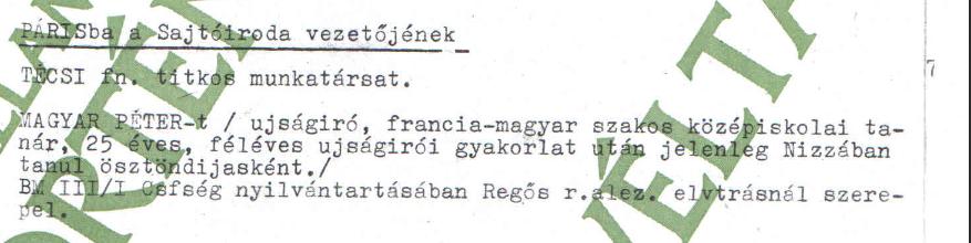 Técsi és Magyar Péter / Forrás: ÁBTL