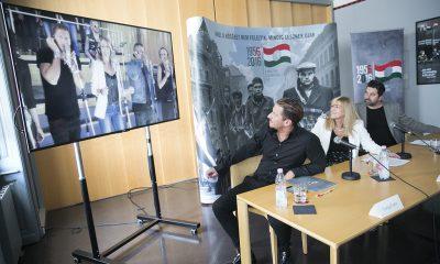 1956-os emlékév egy szabad országért című dalának videóklipjének bemutatása 2016.08.24. Fotó: Horváth Péter Gyula