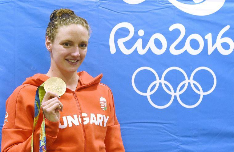 Rióban világcsúccsal lett olimpiai bajnok 400 méteres vegyesúszásban Hosszú Katinka. <br /> Fotó: MTI/Kovács Tamás