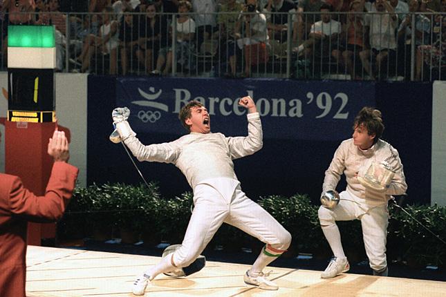 Szabó Bence felejthetetlen barcelonai győzelme 1992-ben (kép: origo.hu)