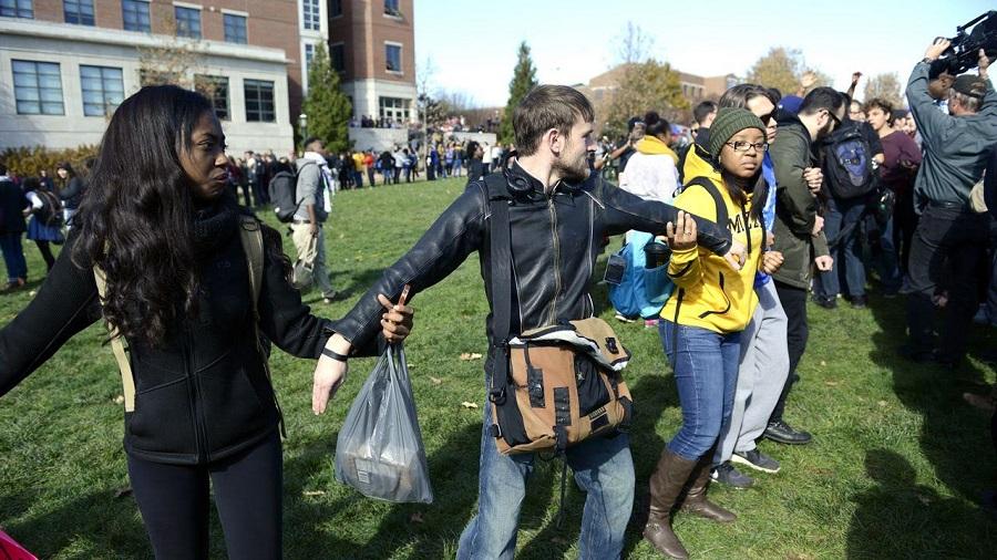 Amerikai egyetemisták tiltakoznak. Fotó: foxnews.com
