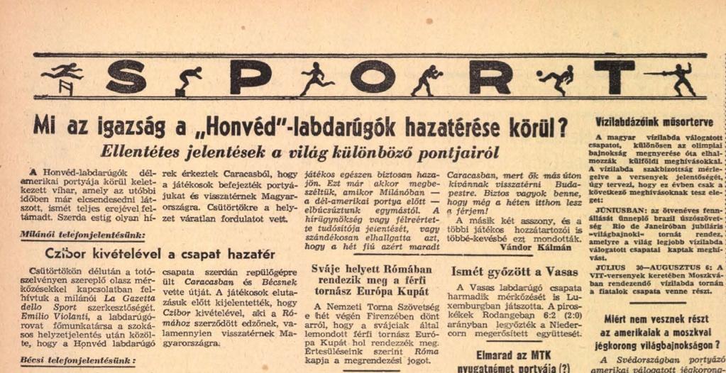 Hazajönnek-e? Korabeli cikk a Népszavában / Forrás: Arcanum.hu