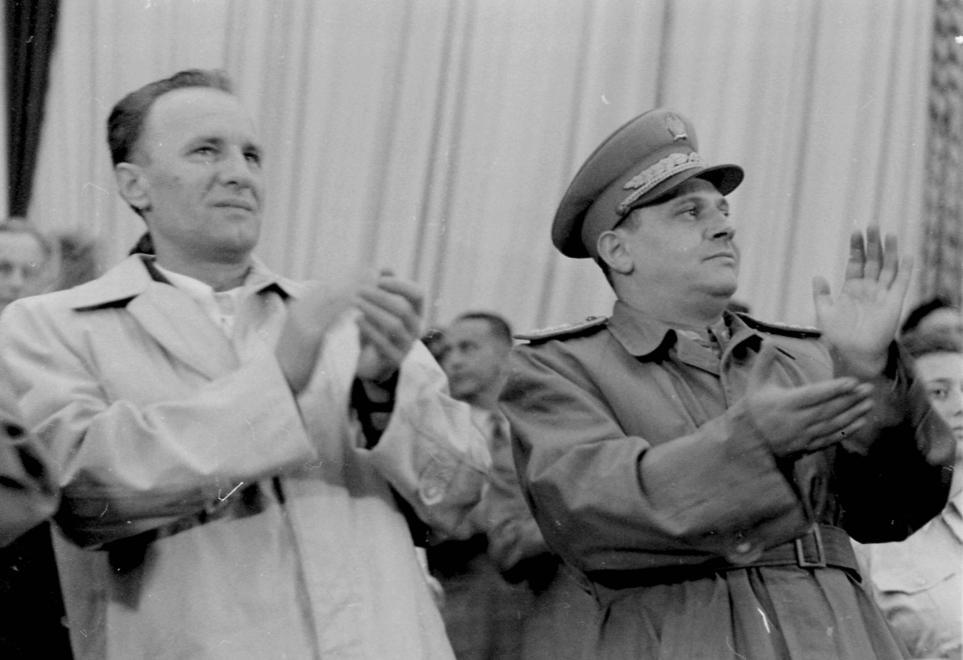 Kádár és Farkas Mihály 1950-ben / Fotó: Fortepan.hu