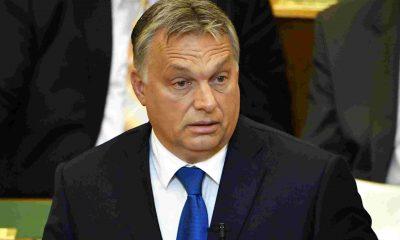 Orbán Viktor hétfői napirend előtti felszólalásán. Fotó: MTI/ Illyés Tibor