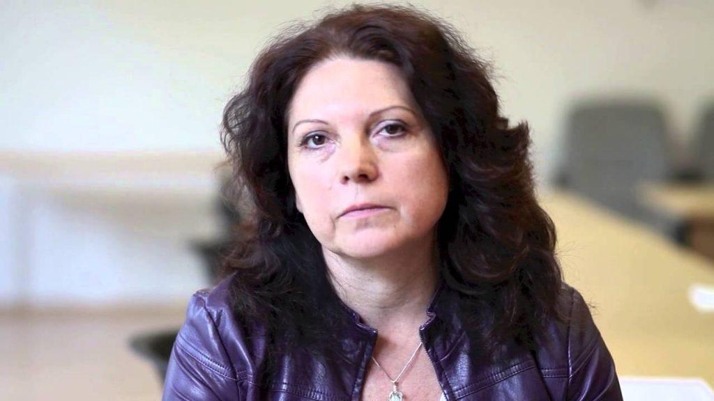 Bolemant Lilla, a Phoenix polgári társulás nevű feminista szervezet vezetője (kép: youtube.com)